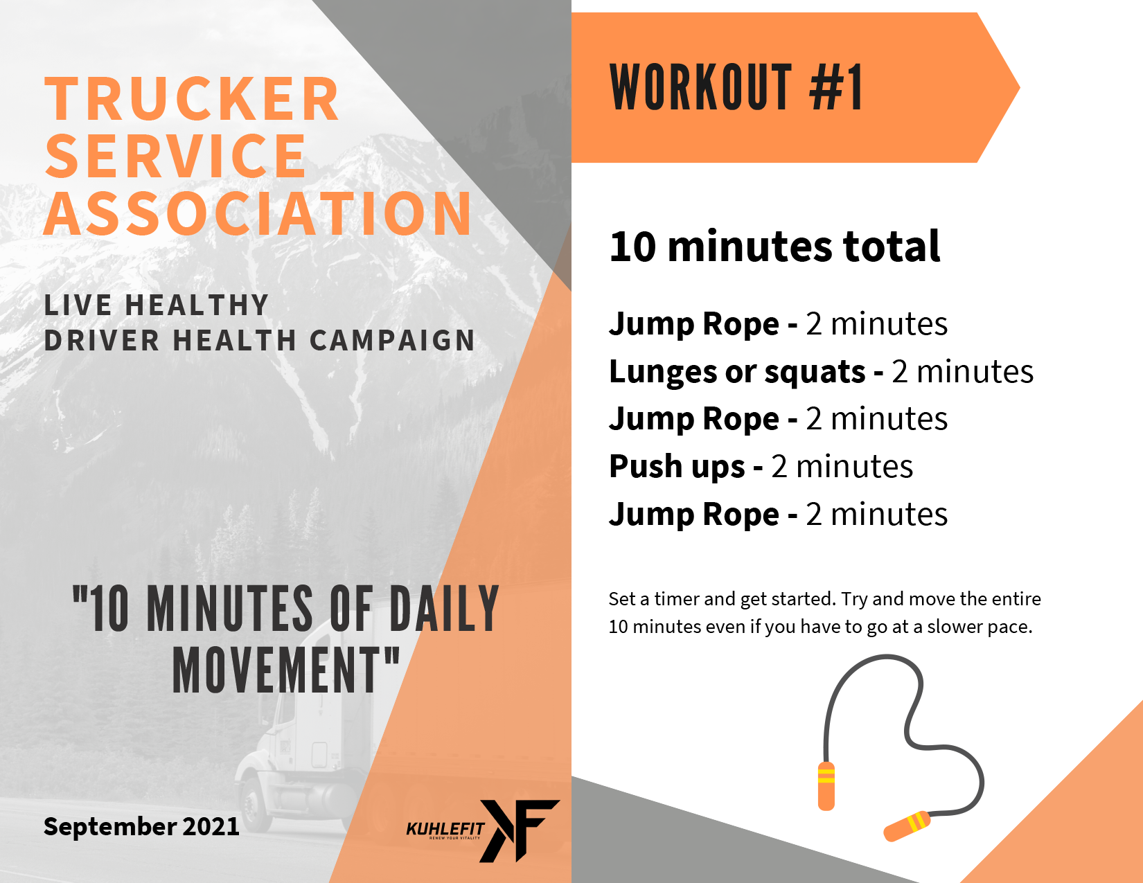 10 Minutes of Daily Movement September 2021 Truckers